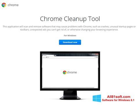 Ekran görüntüsü Chrome Cleanup Tool Windows 8.1