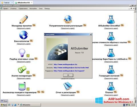 Ekran görüntüsü AllSubmitter Windows 8.1