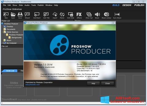 Ekran görüntüsü ProShow Producer Windows 8.1