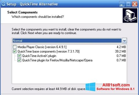 Ekran görüntüsü QuickTime Alternative Windows 8.1
