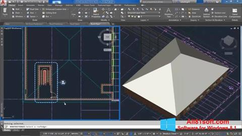 Ekran görüntüsü AutoCAD Architecture Windows 8.1
