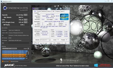 Ekran görüntüsü CINEBENCH Windows 8.1