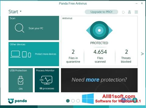 Ekran görüntüsü Panda Windows 8.1