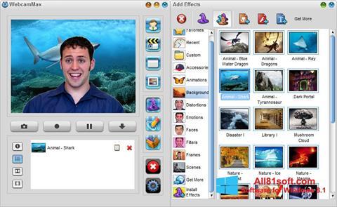 Ekran görüntüsü WebcamMax Windows 8.1