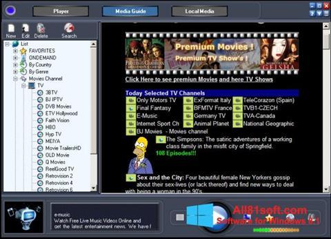 Ekran görüntüsü Online TV Live Windows 8.1