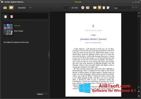 Ekran görüntüsü Adobe Digital Editions Windows 8.1