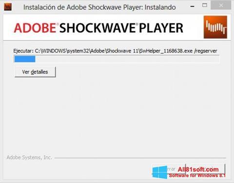 Ekran görüntüsü Adobe Shockwave Player Windows 8.1
