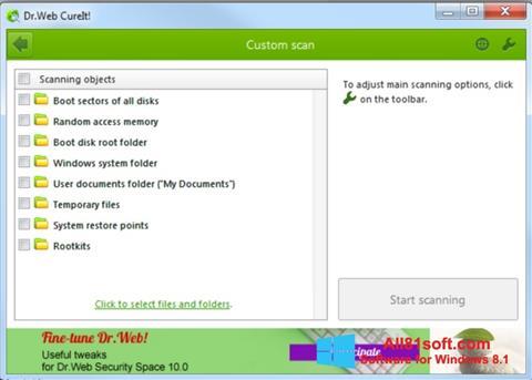 Ekran görüntüsü Dr.Web CureIt Windows 8.1