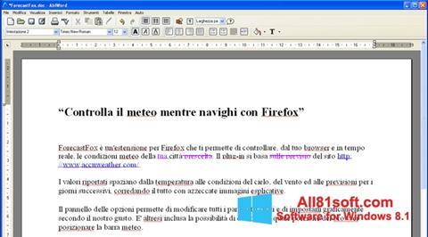 Ekran görüntüsü AbiWord Windows 8.1
