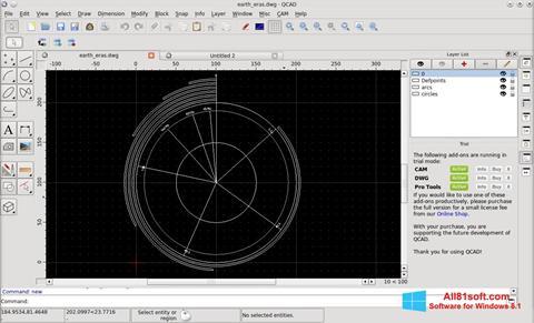 Ekran görüntüsü QCad Windows 8.1