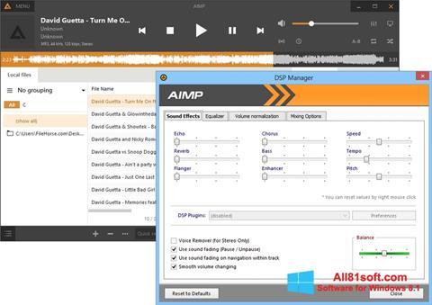 Ekran görüntüsü AIMP Windows 8.1