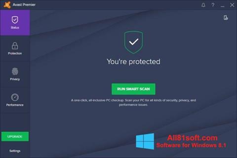 Ekran görüntüsü Avast Premier Windows 8.1
