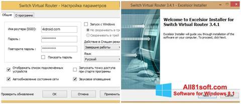 Ekran görüntüsü Switch Virtual Router Windows 8.1