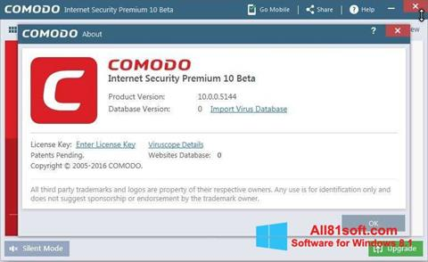 Ekran görüntüsü Comodo Windows 8.1