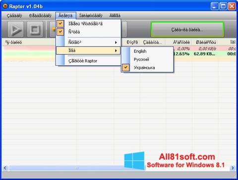 Ekran görüntüsü Raptor Windows 8.1