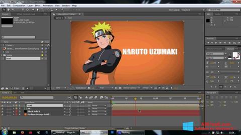 Ekran görüntüsü Adobe After Effects Windows 8.1