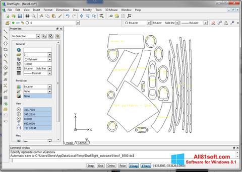 Ekran görüntüsü DraftSight Windows 8.1