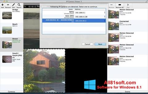 Ekran görüntüsü IP Camera Viewer Windows 8.1