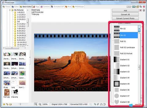 Ekran görüntüsü PhotoScape Windows 8.1