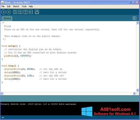 Ekran görüntüsü Arduino Windows 8.1