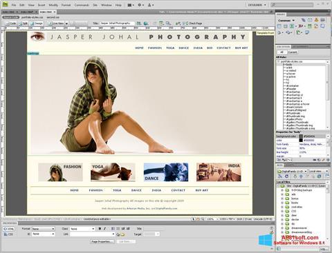 Ekran görüntüsü Adobe Dreamweaver Windows 8.1