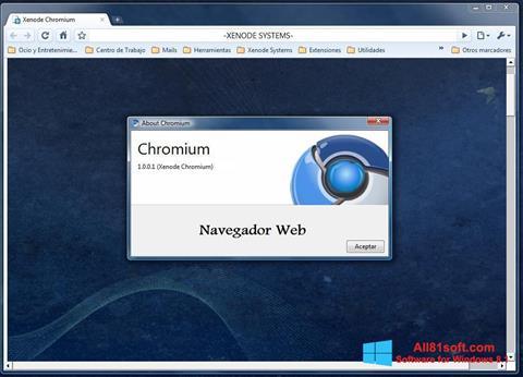 Ekran görüntüsü Chromium Windows 8.1