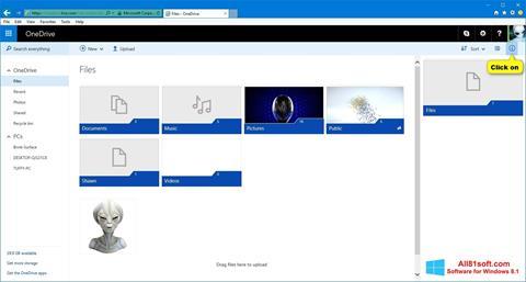 Ekran görüntüsü OneDrive Windows 8.1