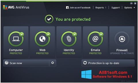Ekran görüntüsü AVG AntiVirus Pro Windows 8.1