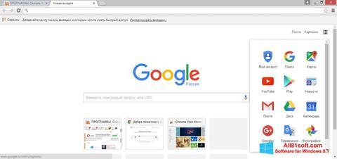 Ekran görüntüsü Google Chrome Windows 8.1