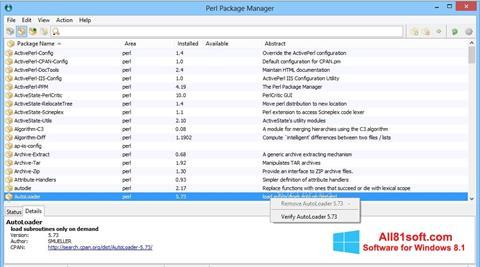 Ekran görüntüsü ActivePerl Windows 8.1