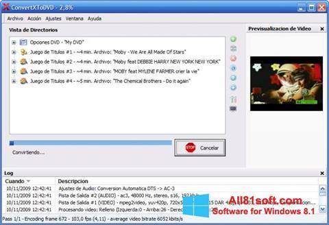 Ekran görüntüsü ConvertXToDVD Windows 8.1