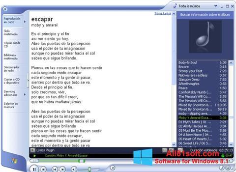 Ekran görüntüsü Windows Media Player Windows 8.1