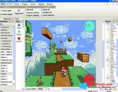 Ekran görüntüsü Construct Classic Windows 8.1