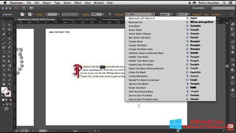 Ekran görüntüsü Adobe Illustrator Windows 8.1