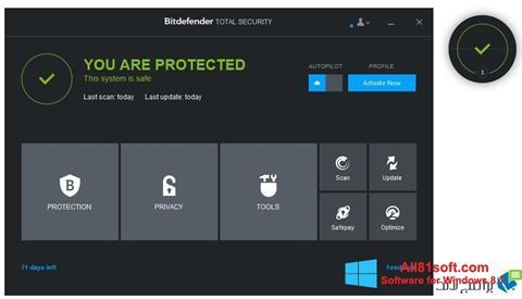 Ekran görüntüsü Bitdefender Windows 8.1