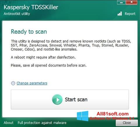 Ekran görüntüsü Kaspersky TDSSKiller Windows 8.1