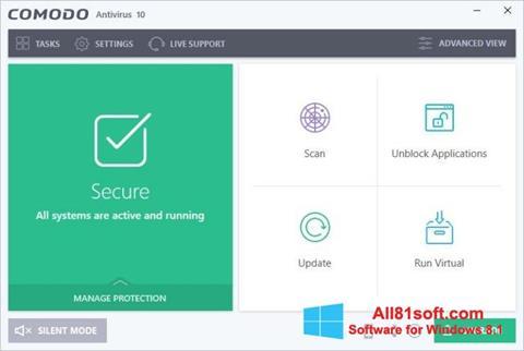 Ekran görüntüsü Comodo Antivirus Windows 8.1
