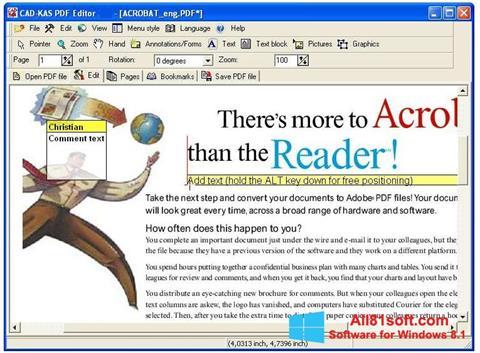Ekran görüntüsü PDF Reader Windows 8.1