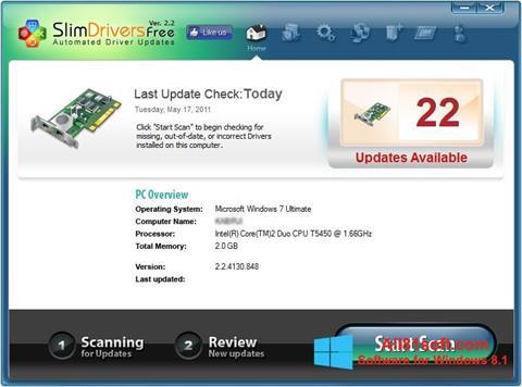 Ekran görüntüsü SlimDrivers Windows 8.1