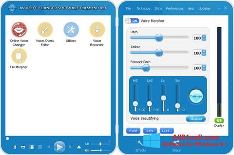 Ekran görüntüsü AV Voice Changer Diamond Windows 8.1