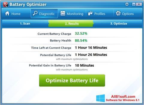 Ekran görüntüsü Battery Optimizer Windows 8.1
