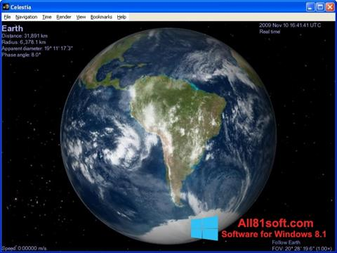 Ekran görüntüsü Celestia Windows 8.1