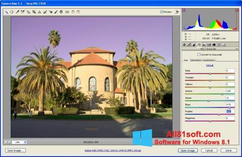 Ekran görüntüsü Adobe Camera Raw Windows 8.1