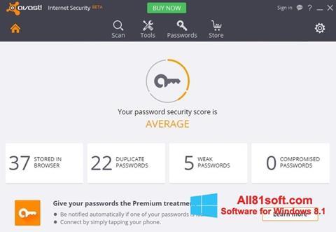 Ekran görüntüsü Avast Internet Security Windows 8.1