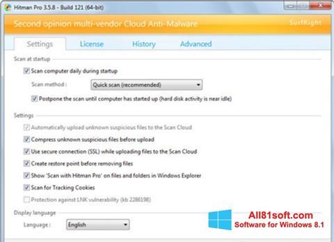 Ekran görüntüsü HitmanPro Windows 8.1