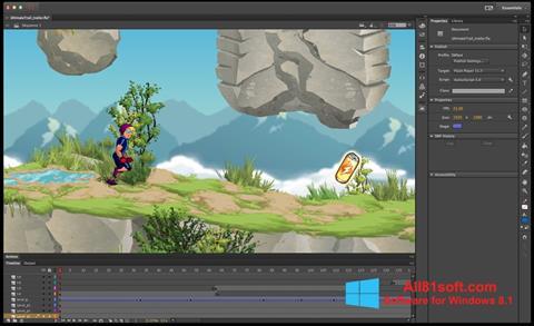 Ekran görüntüsü Adobe Flash Professional Windows 8.1