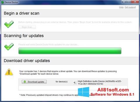 Ekran görüntüsü Device Doctor Windows 8.1