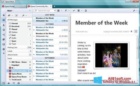 Ekran görüntüsü Opera Mail Windows 8.1