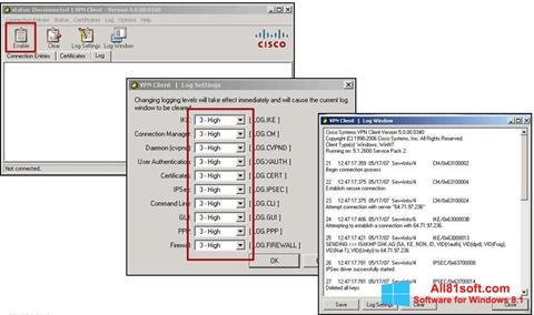 Ekran görüntüsü Cisco VPN Client Windows 8.1