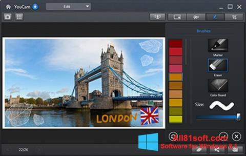 Ekran görüntüsü CyberLink YouCam Windows 8.1